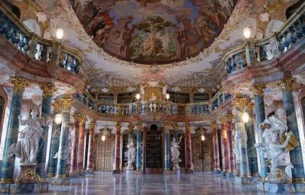 Wiblingen Manastırı Kütüphanesi - Almanya